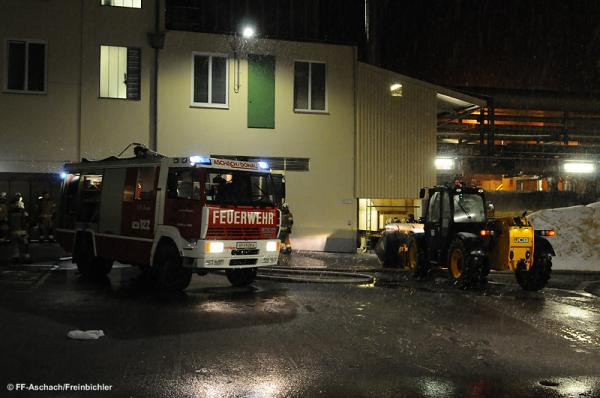 Brand in Industriebetrieb